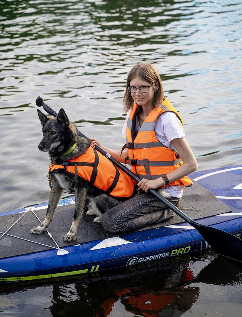 Серфинг с собаками на фестивале Petshop days 2021