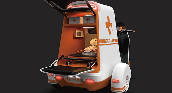 Студенты-технологи придумали карету скорой помощи для домашних животных Pet AMB
