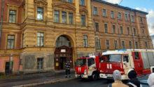 В Санкт-Петербурге в Ветеринарной академии произошёл пожар